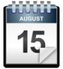 calendar sheet, August 15