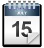 calendar sheet, July 15